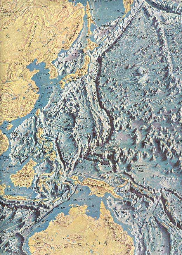 Map - 1969 - Pacific Ocean Floor