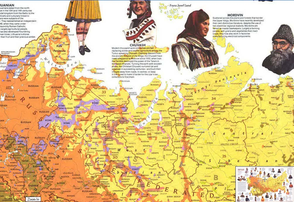 Map - 1976 - Peoples of the Soviet Union / Russia