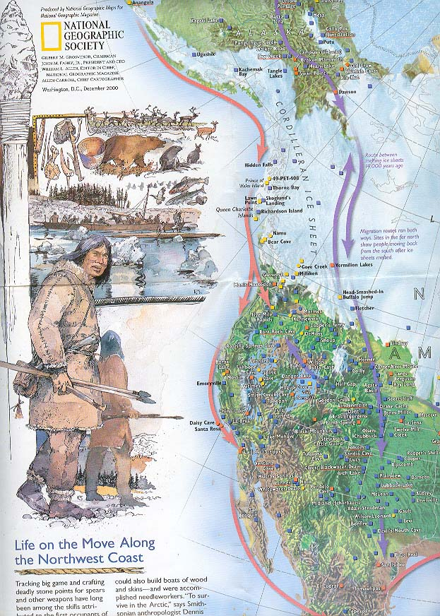 Map - 2000 - The Peopling of the Americas