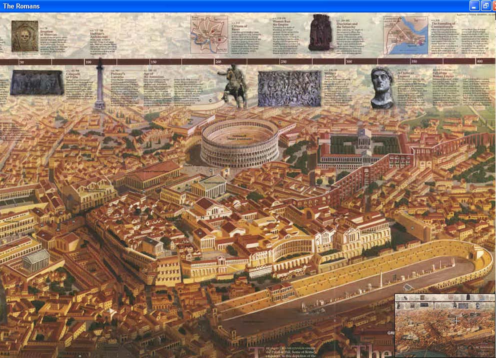 Map - 1997 - Great Peoples of the Past: Romans