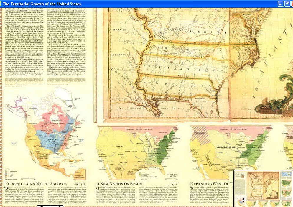 Map - 1987 - The Territorial Growth of the United States<br>29 3/4 x 42 5/8